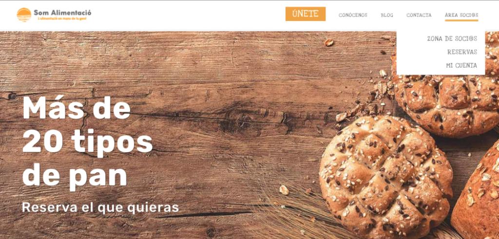 imatge de la web on s'indica com accedir a l'apartat de Reservas